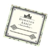 Downton Abbey® Silver Tone Diamond-like Crystal Bobby /