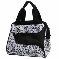 Fit & Fresh Ladies Downtown Insulated Lunch Bag, Ebony, 1 ea