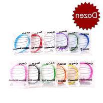 GOGO Dozen Silicone Wristbands for Kids, Rubber Bracelets,