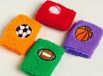 Dozen Kids Sports Wristbands assorted colors