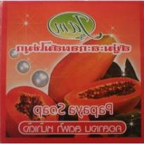 1 Dozens. X 60g.whitening Papaya Soap Mixed with Pearl.by
