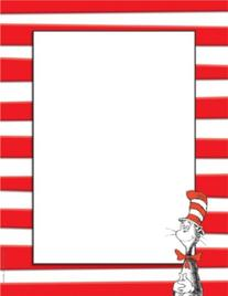 Eureka Dr. Seuss The Cat in the Hat Computer Paper, Package