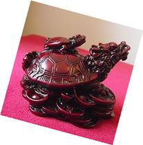 1 X Dragon Headed Turtle in a Dark Red Resin Finish with