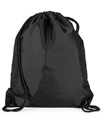 Liberty Bags Large Drawstring Backpack, One Size, BLACK