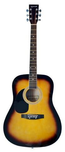 Full Size Dreadnought SUNBURST Acoustic Guitar with Free