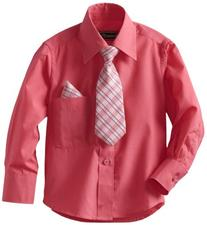 American Exchange Little Boys' Little Dress Shirt With Tie