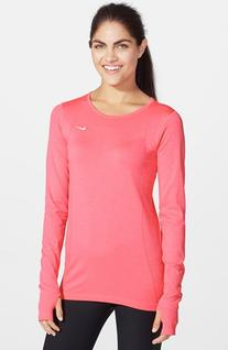 Women's Nike Dri-FIT Seamless Knit Top Hyper Punch Large