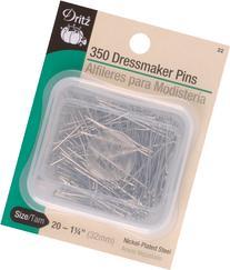 Dritz 350-Piece Dressmaker Pins, 1-1/4-Inch