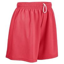 Augusta Drop Ship Girl's Wicking Mesh Short - RED - S