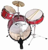 Percussion Plus 3-piece Junior Drum Set - Red