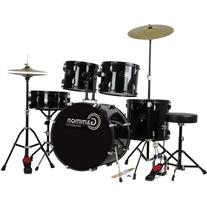 Gammon Drum Set Black Complete Full Size Adult Kit With