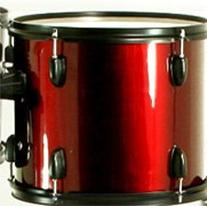 New Drum Set Wine Red 5-Piece Complete Full Size with