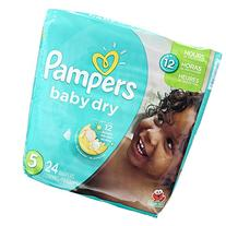 Pampers Baby Dry Diapers - Size 5 - 24 ct