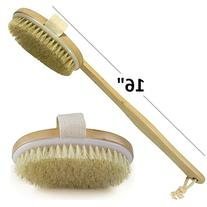Wholesome Beauty Dry Skin Body Brush with Removable 11-Inch