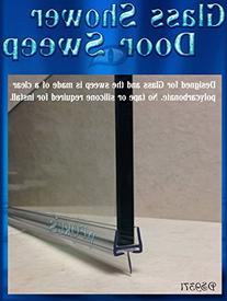 """DS9371-1....3/8"""" Glass Shower Door Sweep 36"""" Long to Fill"""