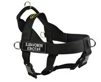DT Universal No Pull Dog Harness, Clear Patches, Black,