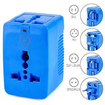 Yubi Power Dual Outlet Travel Adapter with 2 Universal