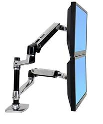 Halter Dual LCD Adjustable Monitor Stand, Dual Stacking Arm