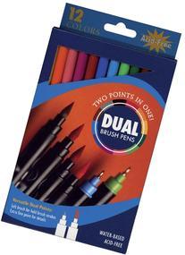 Pro Art Dual End Brush Pen Set, 12 Color