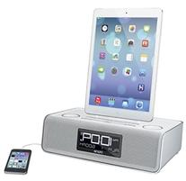 iHome iDL43W Dual Charging Stereo FM Clock Radio with