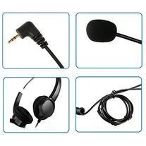 AGPtEK® 2.5mm Dual Ear Call Center Telephone Headphone, 6FT