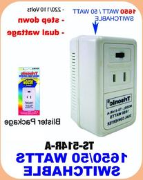 1650 Watt Dual Euro Travel Electric 220/240V -> 110/120V