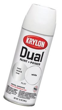 Krylon Dual Paint & Primer Aerosol 12 Oz. Flat White - Lot