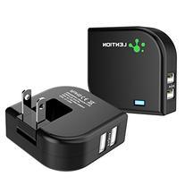 2.4 Amp Dual Port Rotatable High Speed USB Travel Wall