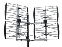 Dual Quad Bay Outdoor HDTV/DTV/UHF Bowtie Television Antenna