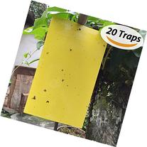 BESKIT 20-Pack Dual-sided Yellow Sticky Traps for Fungus