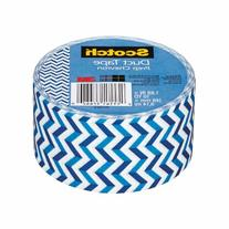 Scotch Colored Duct Tape, 1 7/8in. x 10 Yd., Prep Chevron