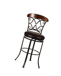 Hillsdale 5026-830 Dundee Swivel Bar Stool, Dark Coffee