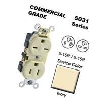 Duplex Receptacle Dual Voltage Commercial Grade 5-15R-6-15R