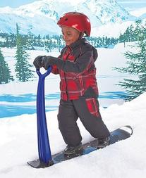 Durable, Sturdy Snow Scooter with Snowboard-type Base, Easy