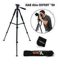 Durable Pro Series 60 inch Full size Tripod with 3 way Pan-