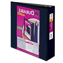 "Durable View Binder with Slant Rings, 3"" Capacity, White 3"""