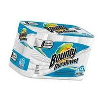 Bounty DuraTowel Paper Towels, 2-Ply, 9 x 11, 53/Roll, 8