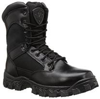 "Rocky Duty Men's Alpha Force 8"" Zipper Boot,Black,8 M"