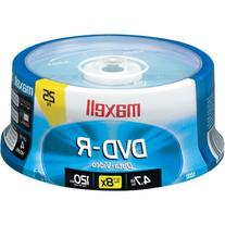 Maxell DVD-R Disc 4.7GB 16X 25 Pack Spindle