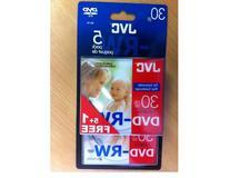 JVC DVD-RW 1.4Gb 8cm 30min Pack 5+1 in jewel case camcorder