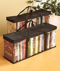 DVD Storage Organizer - Classic Set Of 2 Storage Bags With