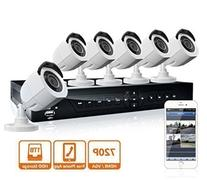 LaView 8 Channel 720P HD DVR Security System with 1TB