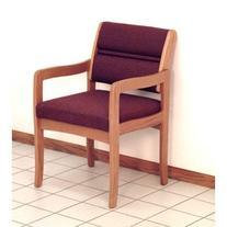Wooden Mallet DW3-1LOCG Valley Guest Chair in Light Oak -