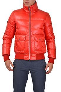 Emporio Armani EA7 Men's Red Full Zip Down Parka Jacket US M