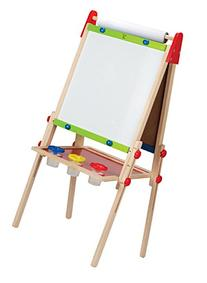Hape All-in-One Wooden Kid's Art Easel with Paper Roll and