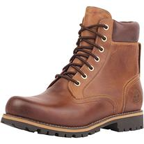Timberland Men's Earthkeepers Rugged Boot, Red Brown, 12 M