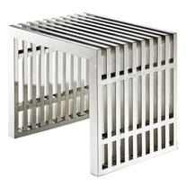 East End Imports Gridiron Small Stainless Steel Bench