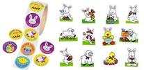 Easter Party Pack- Roll of 100 Easter Stickers and 72 Easter