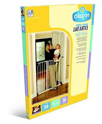 Regalo Easy Step Extra Tall Walk Thru Gate, White Jumbo Size