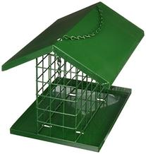 C & S Products Easy Fill Deluxe Snak/Suet Feeder with Roof